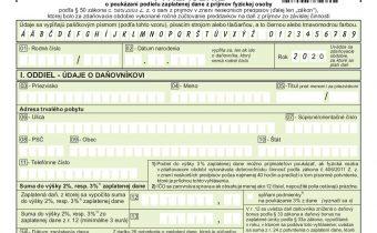 Vyhlásenie o poukázaní podielu zaplatenej dane z príjmov fyzickej osoby 2020 – EP Haburská
