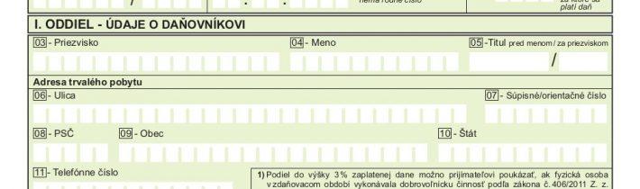Vyhlásenie o poukázaní podielu zaplatenej dane z príjmov fyzickej osoby 2020 – MŠ Stálicová
